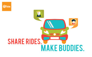 use sRide carpooling and share rides and make buddies