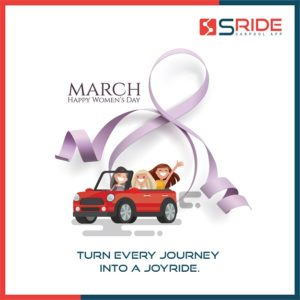 sRide Carpool Women's Day celebration. Helping women to carpool safely with verified corporate users