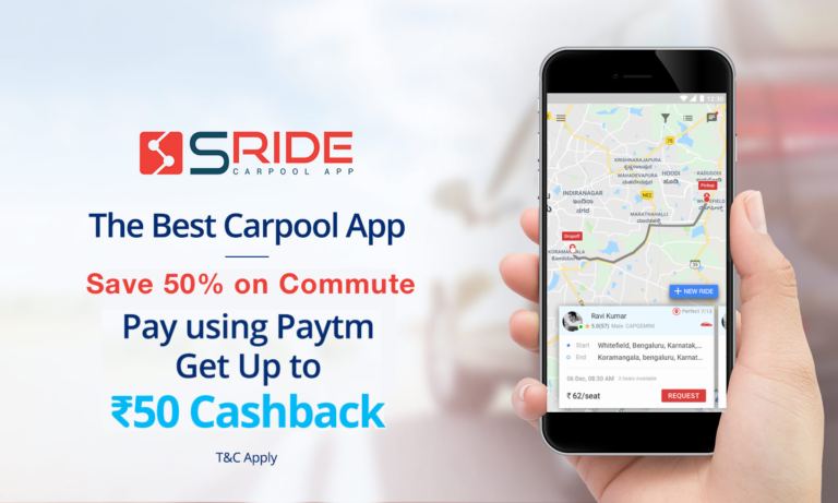 Paytm tie up with sRide for Cashback